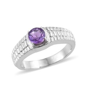 Accessories - Amethyst Stainless Steel Men's Ring